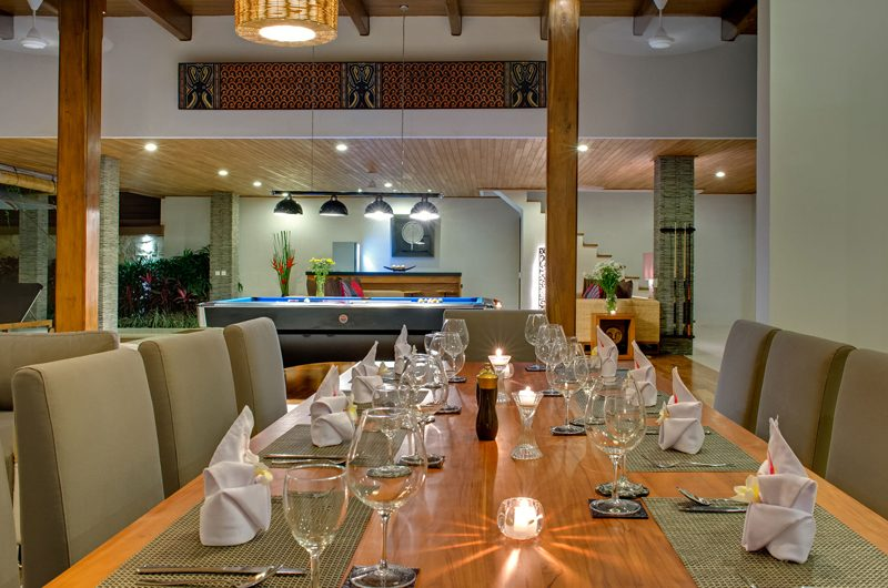 Villa Kinara Dining Table with Crockery, Seminyak | 6 Bedroom Villas Bali