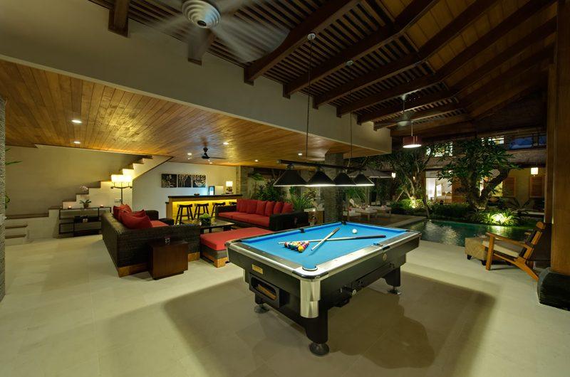 Villa Kinaree Estate Living Area with Billiard Table, Seminyak | 6 Bedroom Villas Bali