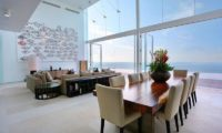 Villa Latitude Bali Living and Dining Area with Sea View, Uluwatu | 6 Bedroom Villas Bali
