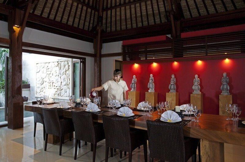 Villa Lilibel Dining Area, Seminyak | 6 Bedroom Villas Bali
