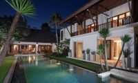 Villa Lilibel Pool at Night, Seminyak | 6 Bedroom Villas Bali