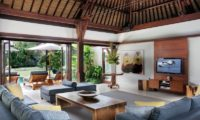 Villa Lilibel Living Area with Pool View, Seminyak | 6 Bedroom Villas Bali