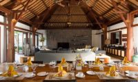 Villa Lilibel Living and Dining Area, Seminyak | 6 Bedroom Villas Bali