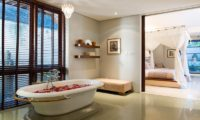 Villa Lilibel Bedroom with Romantic Bathtub Set Up, Seminyak | 6 Bedroom Villas Bali