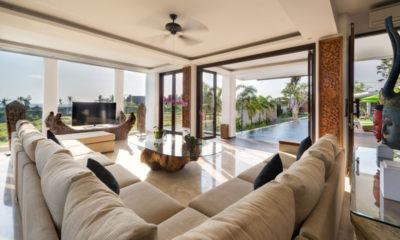 Villa Luwih Living Area with Pool View, Canggu | 6 Bedroom Villas Bali