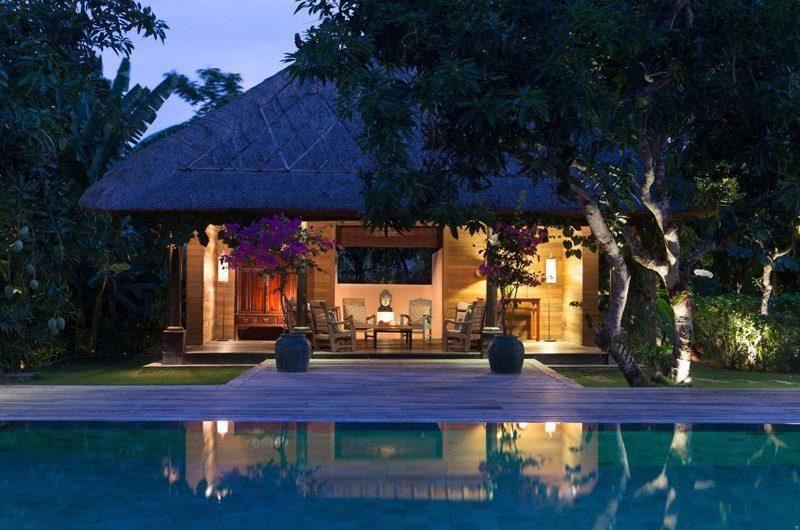Villa Mamoune Gardens and Pool at Night, Umalas | 6 Bedroom Villas Bali