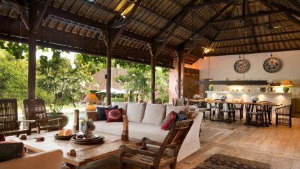 Villa Mamoune Indoor Living and Dining Area, Umalas | 6 Bedroom Villas Bali
