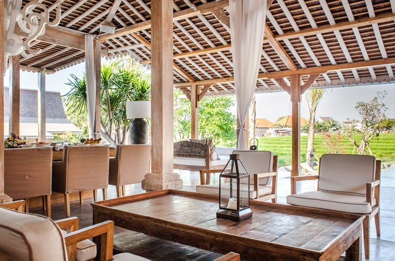 Villa Mannao Living Area with View, Kerobokan | 6 Bedroom Villas Bali