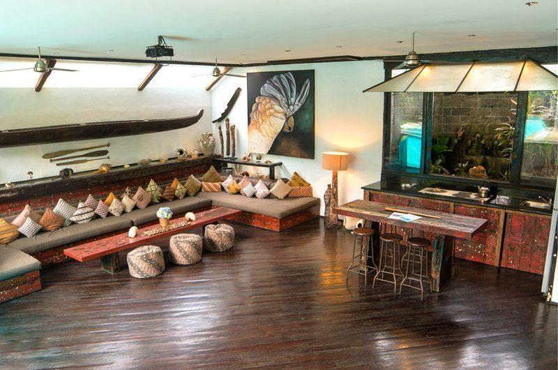Villa Phinisi Living Area, Seminyak | 6 Bedroom Villas Bali