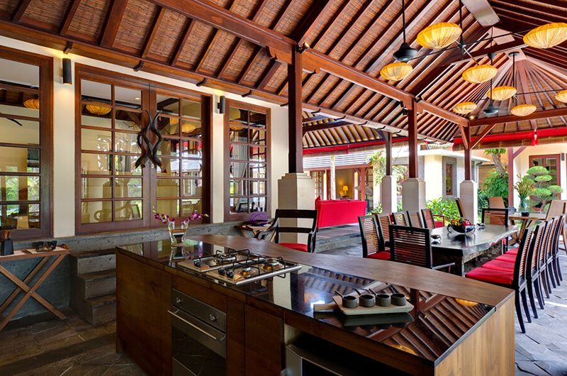 Villa San Kitchen and Dining Area, Ubud | 6 Bedroom Villas Bali