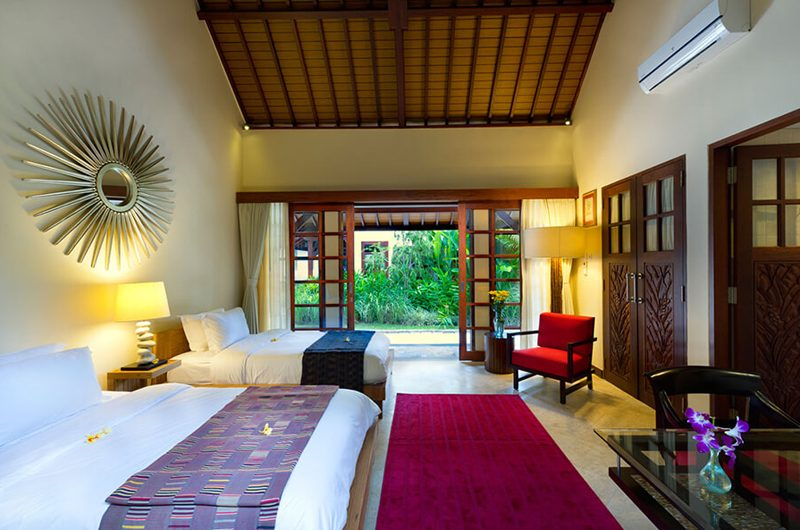 Villa San Twin Bedroom with Garden View, Ubud | 6 Bedroom Villas Bali