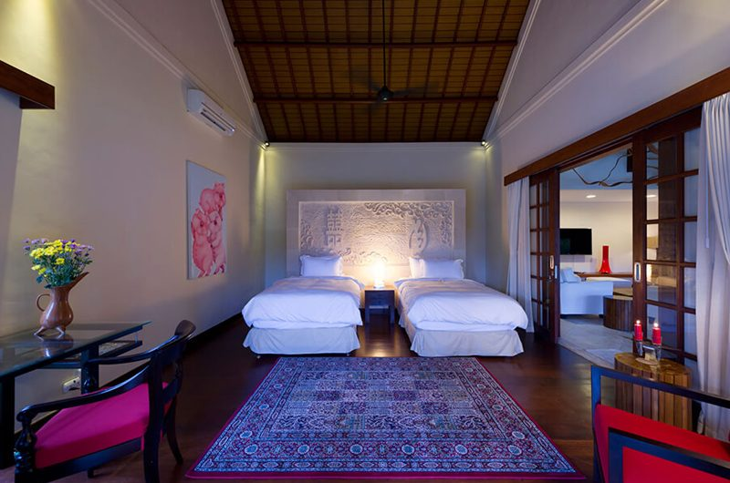 Villa San Twin Bedroom with Wooden Floor, Ubud | 6 Bedroom Villas Bali