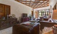 Villa Sayang D'Amour Indoor Living Area with TV, Seminyak | 6 Bedroom Villas Bali