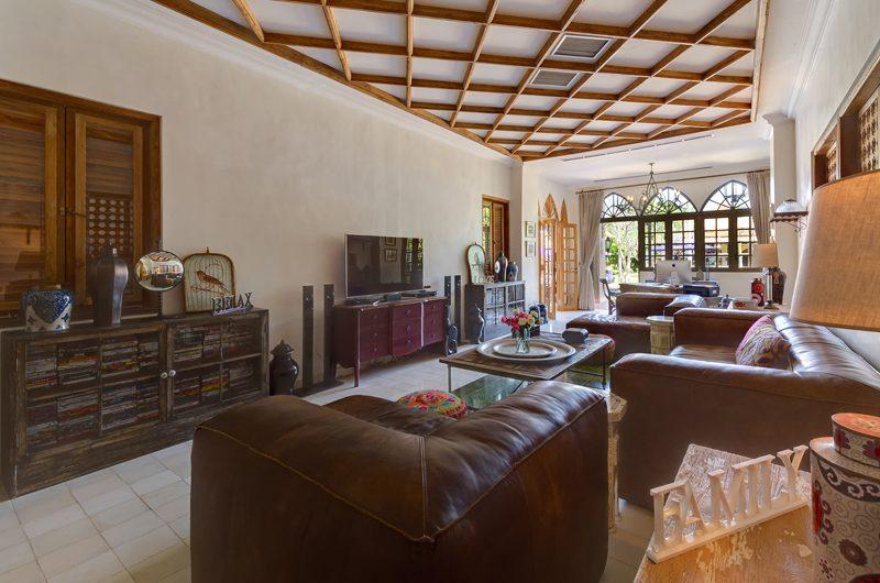 Villa Sayang D'Amour Indoor Living Area with TV, Seminyak   6 Bedroom Villas Bali