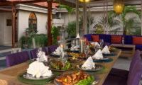 Villa Sayang D'Amour Outdoor Dining, Seminyak | 6 Bedroom Villas Bali
