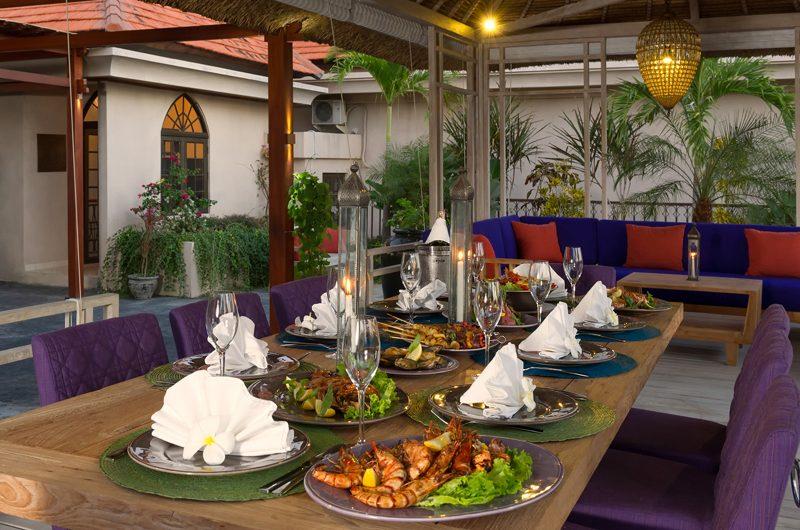 Villa Sayang D'Amour Outdoor Dining, Seminyak   6 Bedroom Villas Bali