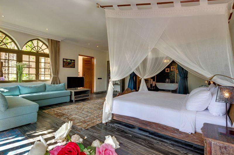 Villa Sayang D'Amour Bedroom with TV, Seminyak   6 Bedroom Villas Bali