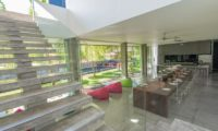 Villa Simpatico Kitchen and Dining Area with Up Stairs, Seminyak | 6 Bedroom Villas Bali