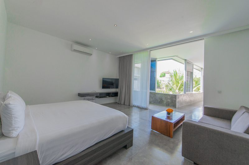 Villa Simpatico Bedroom with Sofa and TV, Seminyak | 6 Bedroom Villas Bali