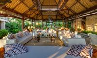 Villa Sungai Tinggi Living Area with Garden View, Pererenan | 6 Bedroom Villas Bali