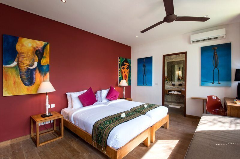 Villa Tangram Bedroom with Twin Beds, Seminyak | 6 Bedroom Villas Bali