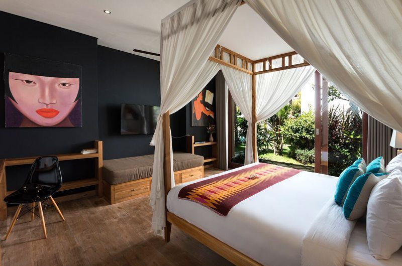 Villa Tangram Bedroom with TV, Seminyak | 6 Bedroom Villas Bali