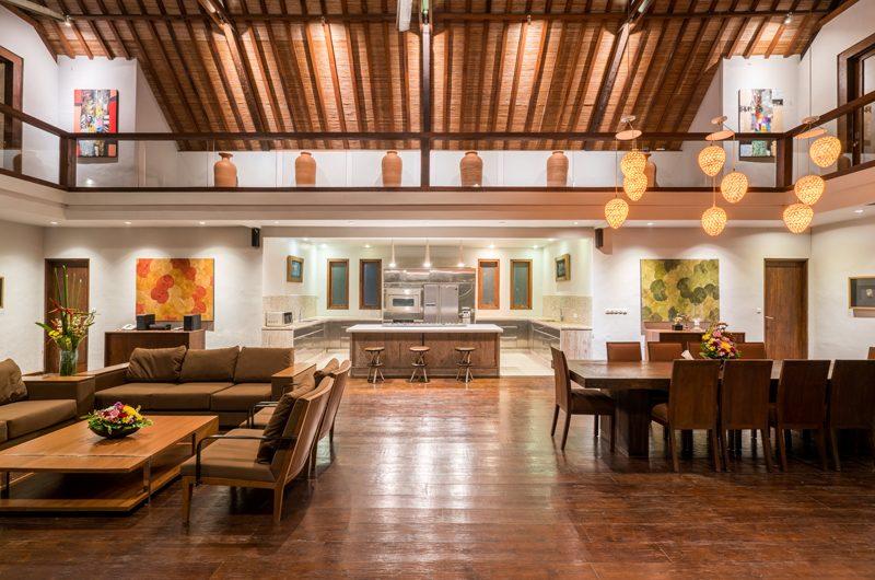 Villa Tirtadari Living Dining and Kitchen Area, Umalas | 6 Bedroom Villas Bali