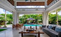 Villa Tjitrap Living Area with Pool View, Seminyak   6 Bedroom Villas Bali