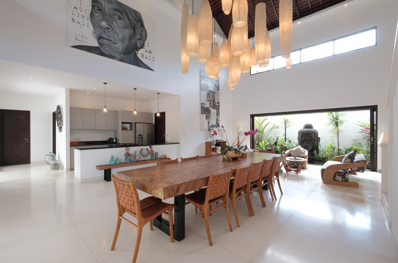 Villa Tjitrap Kitchen and Dining Area, Seminyak | 6 Bedroom Villas Bali