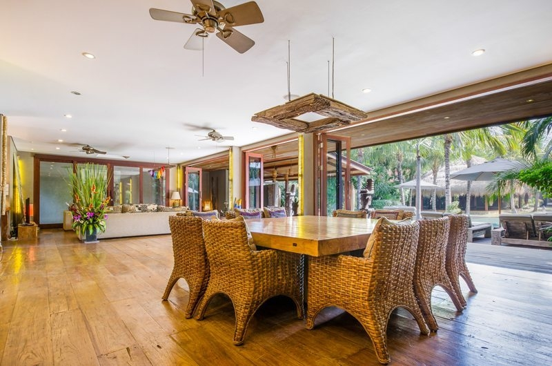 Villa Yoga Indoor Living and Dining Area, Seminyak | 6 Bedroom Villas Bali
