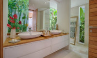 Villa Zambala His and Hers Bathroom, Canggu | 6 Bedroom Villas Bali